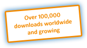 Over 100,000 downloads worldwide and growing